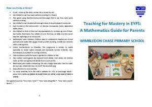 thumbnail of 3980559175112412903 – EYFS – Maths mastery parent booklet – FINAL