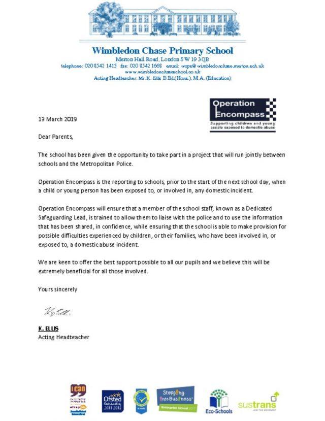 thumbnail of Operation Encompass Parent letter Mar19