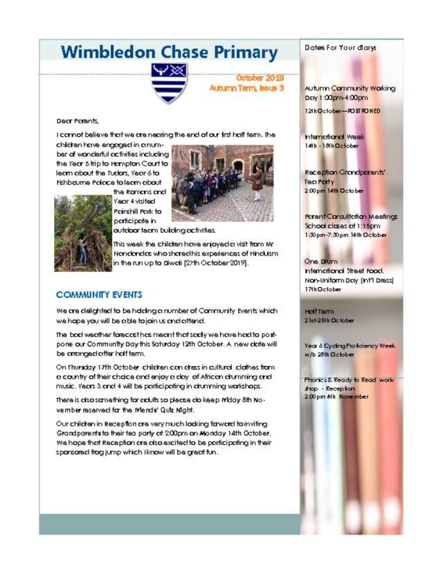thumbnail of Newsletter Autumn Issue 3 October