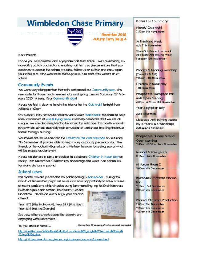 thumbnail of Newsletter Autumn Issue 4.1 November