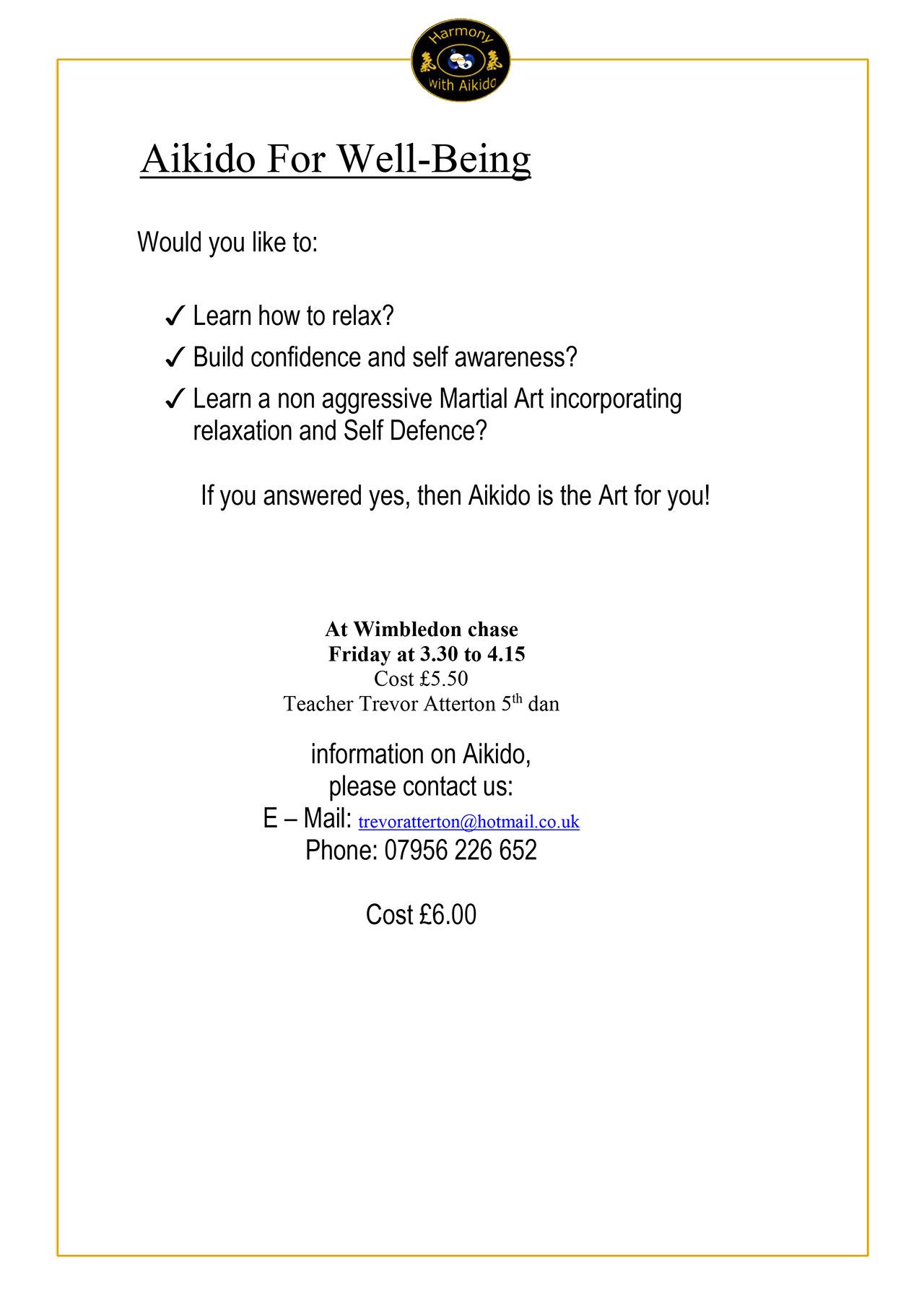 Aikido Poster Wimbeldon Chase 2