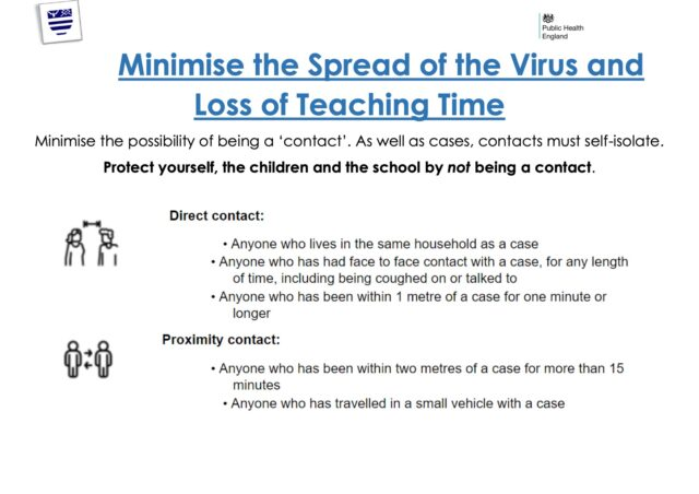Minimise The Spread Of The Virus And Loss Of Teaching Time Poster