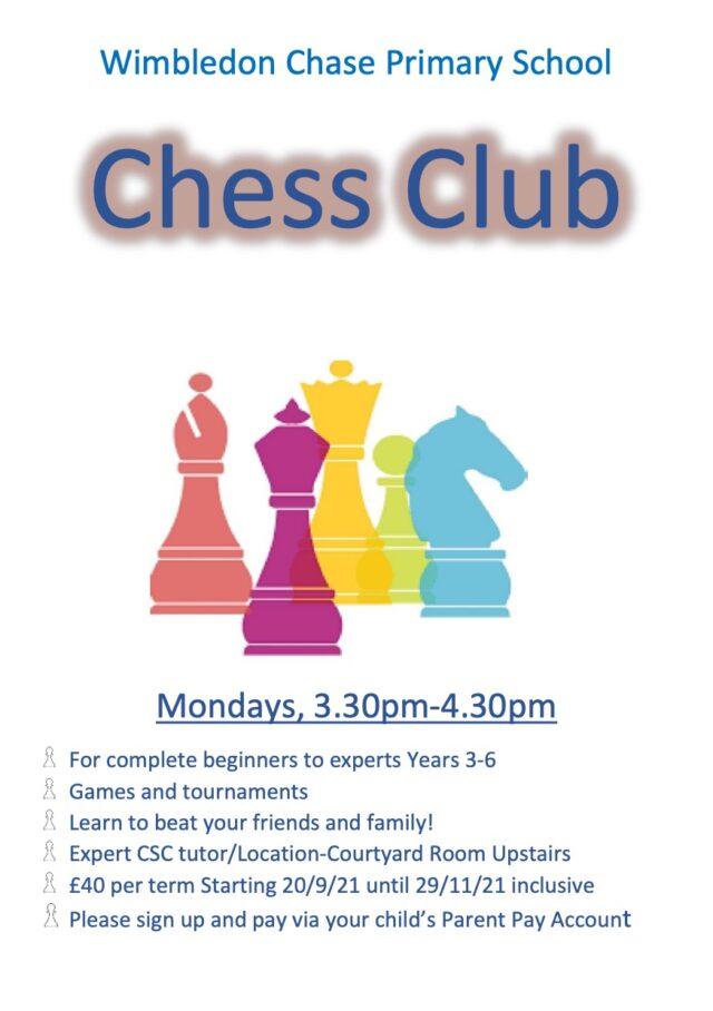 Chess Club KS2 14092021