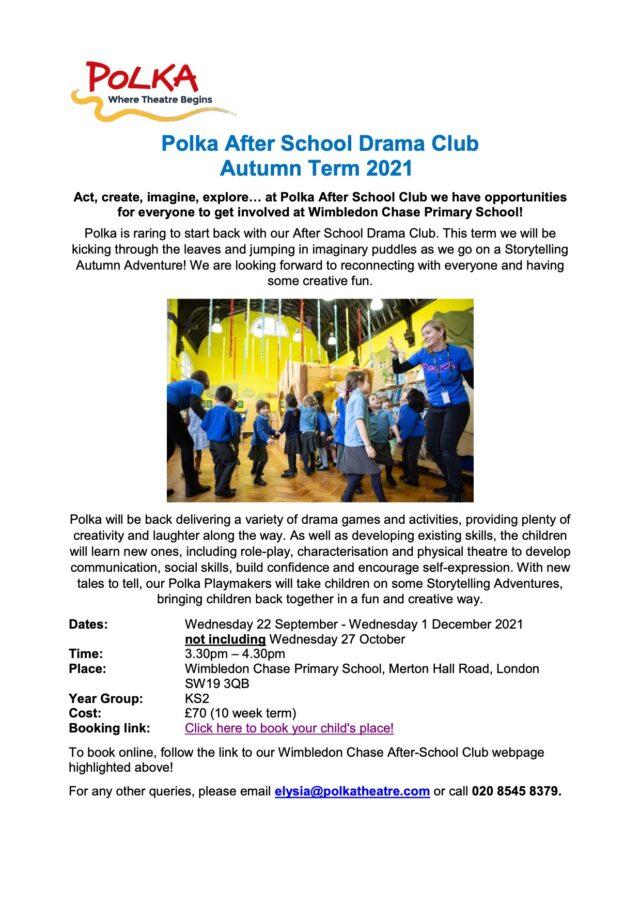 Polka After School Club Booking KS2 Autumn Term 2021