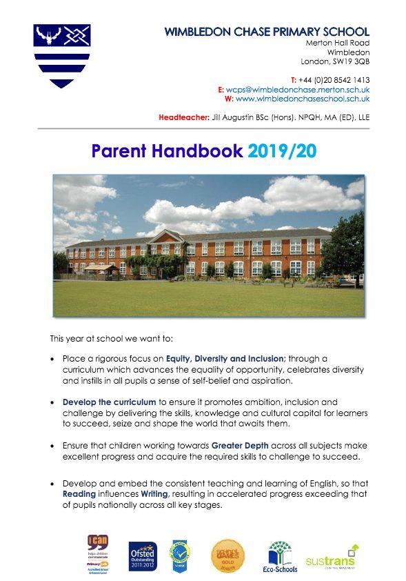 thumbnail of Parent Handbook 2019-20