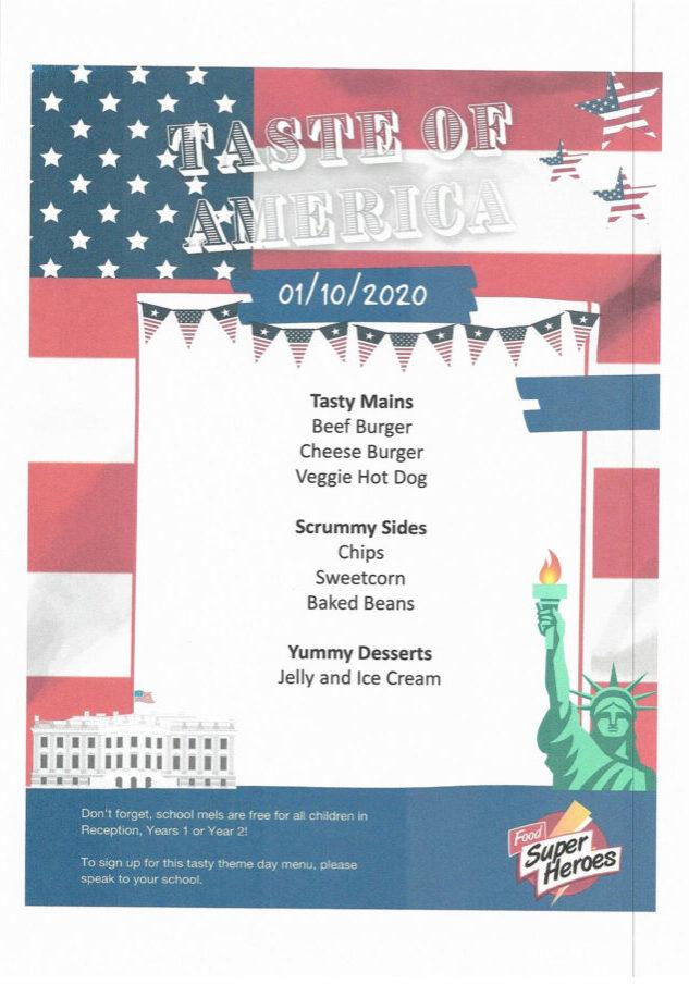 Taste Of America School Meal 01102020